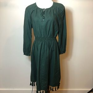 Madewell Green Long sleeve dress size 6